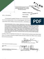 Federal Criminal Complaint against Rita Crundwell