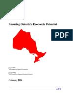 Ensuring Ontario's Economic Potential