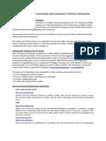U.S. Medical Societies Associations and Community Volunteer Information