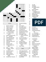 Blank Crossword 1