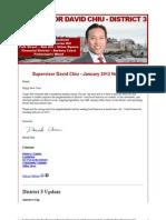 Supervisor Chiu - January 2012 - Newsletter