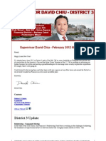 Supervisor Chiu - February 2012 - Newsletter