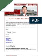 Supervisor Chiu - March 2012 - Newsletter