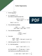 1. Further Trigonometry