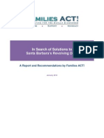 Families ACT! Report- In Search of Solutions to Santa Barbara's Revolving Door Final Edit