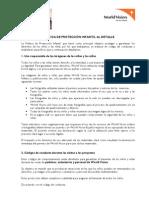 guía de protección infantil en la difusión de imágenes