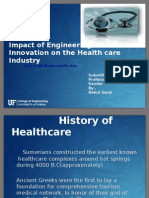 Impact of Innovation on Healthcare Industry
