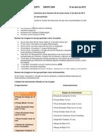 Informe del servicio de  Quirófano de la Semana 26 de marzo hasta 13 de abril de 2012
