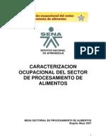 Caracterización Ocupacinal Procsiento de Alimentos