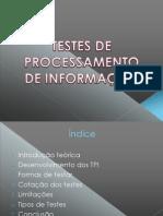 teste de processamento da informação