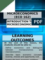 1. ECO 162-Introduction to Micro Economic