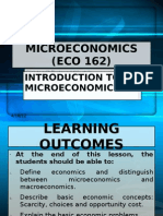 1. ECO 162-Introduction to Micro Economic