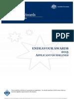 Australia Endeavour Applicant Guidelines