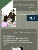 Wawancara Dalam Psikologi Klinis.sumi Lestari