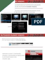 Apertura de Puertos en Router IUSACELL HUAWEI HG8241