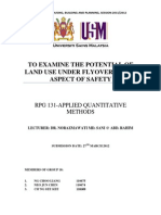 To Examine the Potential of Land Use Under Flyover in Aspect of Safety