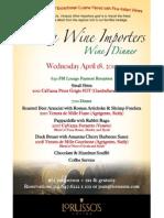 Venezia Wine Importers Wine Dinner 04/18/2012
