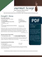 the gourmet scoop - november 2011