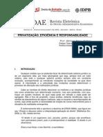 ADILSON DALLARI - Privatização, Eficiência e Responsabilidade
