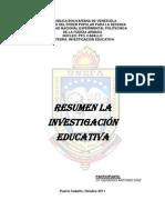 RESUMEN INVESTIGACION EDUCATIVA