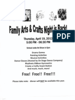 Family Art Night Flyer Updated Map