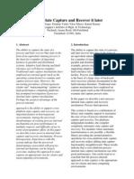 Process State Saving Paper