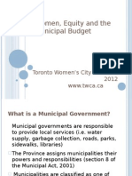 Women Equity and Municipal Government