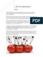 El peligro de los alimentos transgénicos