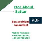 Sex Problems Consultant