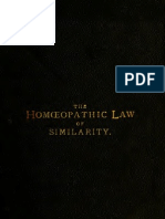 The Homeopathic Law of Similarity Dr. Von Grauvogl