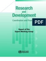 Research and Development - Coordinating and Financing [WHO Expert Group]