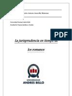 La Jurisprudencia en Tiempos de Los Romanos (Final)