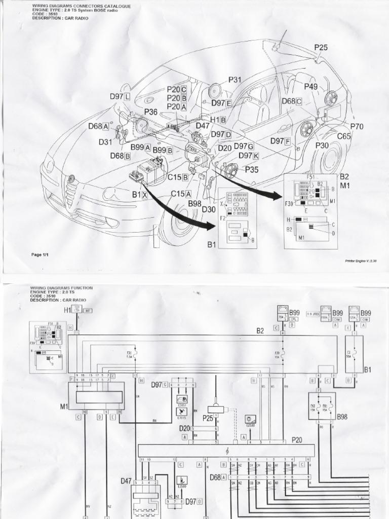 bose wiring diagrams for alfa 147 Wiring 225 Diagram Mercury 0T997471