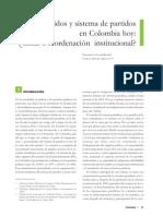 Partidos y Sistemas de Partidos en Colombia Hoy