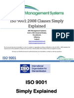 ISO 9001 Clauses Simply Explained
