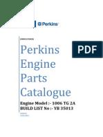 1006TG2 YB35013 Parts Manual