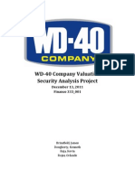 WD-40 Company Valuation- Final3