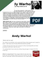 Andy Warhol Assigment