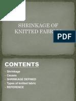 Presentation of Shrinkage of Knits