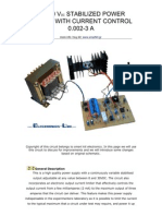 0 to 30 Vdc Stabilized Power Supply With Current Control 3a