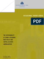 ecb, the sustainability of China's exchange rate policy and capital account liberalization