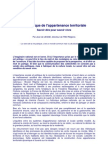 TMO Régions - Jean de Legge - Le Tryptique de l'Appartenance Territoriale