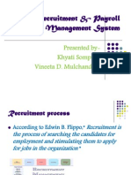 Recruitment & Payroll Management System
