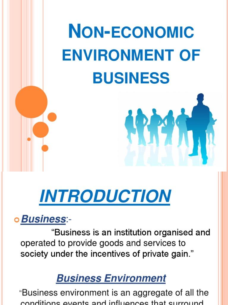economic environment of business pdf