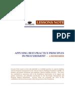 Best Practices Principles in Procurement