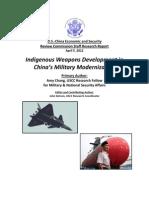 Indigenous weapons development in China'smilitarymodernization