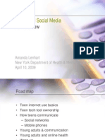 Teens Social Media and Health - NYPH Dept Pew Internet