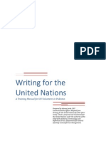 Writing for the UN