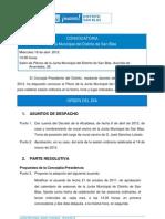 Orden del Día Pleno Ordinario Abril 2012