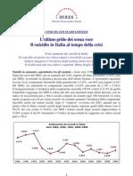 Il suicidio in Italia al tempo della crisi